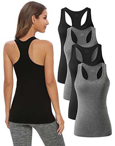 Naviskin Womens Workout Tank Tops Racerback Yoga Tops Sleeveless Running Gym Athletic Shirts