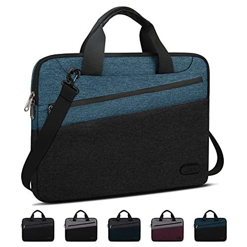 Lubardy Laptoptasche 15.6 Zoll Laptophülle wasserdichte Notebooktasche Aktentasche Herren mit Taschen Business Umhängetaschen mit Schultergurt