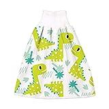 Manyao - Falda de pañal para bebé, pañales antifugas, lavable, falda de entrenamiento, braga de bebé Dinosaurio Verde M:0-4 años