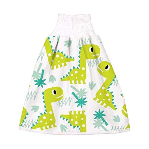 Manyao - Falda de pañal para bebé, pañales antifugas, lavable, falda de entrenamiento, braga de bebé Dinosaurio Verde L