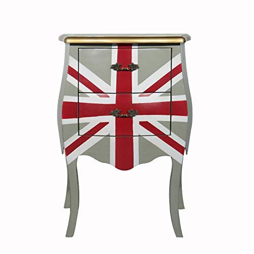 CXJC Nachttisch Eiche Massivholz Moderne Flagge Nacht Beistelltisch Mit Schublade Für Wohnzimmer Schlafzimmer Sofa Hotel Lagerschrank