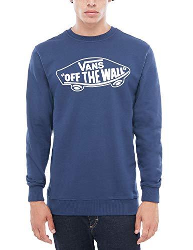 Vans OTW Crew Sweat-Shirt, Bleu (Dress Blues/White), Large Homme