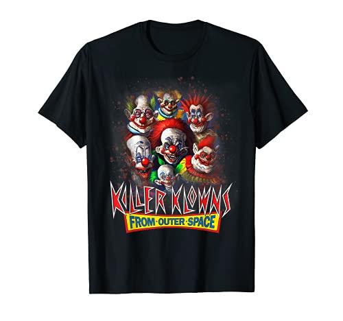 Killer Klowns FromExterior Espeluznante Espacio Exterior Divertido Halloween Camiseta