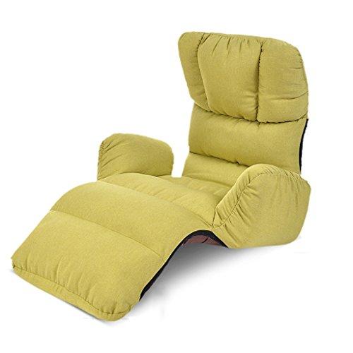 Sofa paresseux individuel canapé-lit pliant fauteuil balcon baie vitrée Casual inclinables (Couleur : Vert)