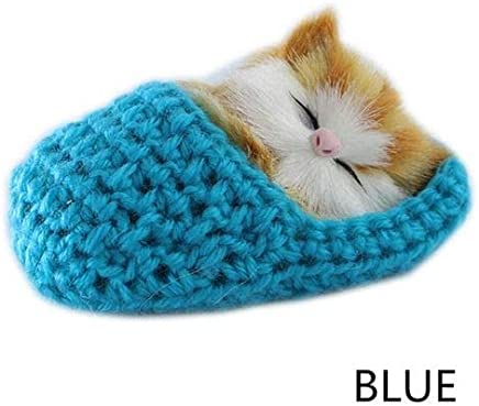 Kid Lifelike Toys Cute Plush Slipper Cat Soft Doll Simulation Sound Xmas Toy New