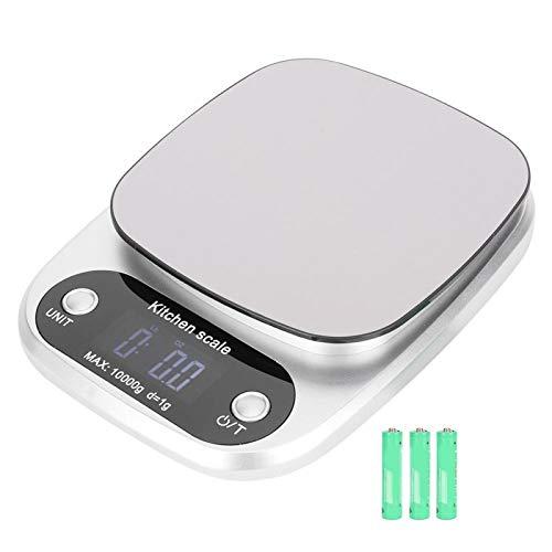 Báscula electrónica de cocina 10000g 1g para el hogar para interior para oficina(CH-305, transparency)