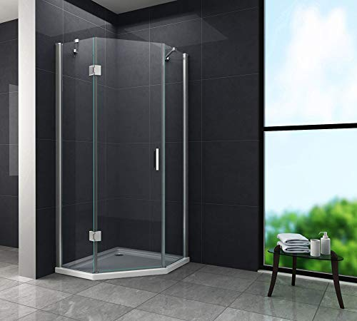 Fünfeck-Duschkabine VERTEX 100 x 100 x 200 cm inkl. Duschtasse