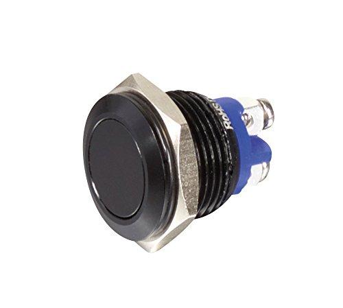 Sintron Connect Aluminiumtaster 16 mm 1 x Schliesser, schwarz, Tasterkopf flach, bündig
