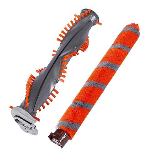 Casa Vacuums Brush Roll Replacement Kit Compatible with Shark DuoClean NV800 NV800W NV801,NV801Q,NV803,UV810,HV380,HV381,HV382,HV384 Cleaner. Part No 1148FT800 (Soft Brush) 1147FT800 (Bristle Brush)