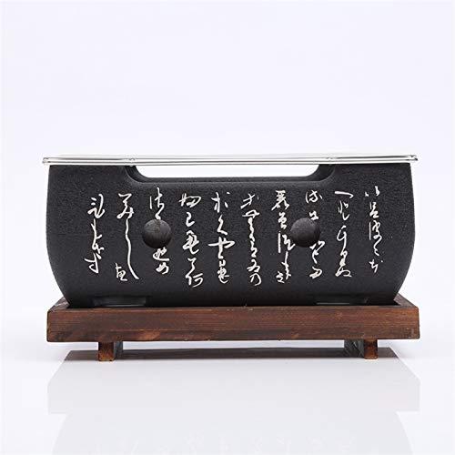 41+kfXtrkTL. SL500  - YAOLUU Grill zubehör Mini-Tisch-Top-Holzkohlegrill-tragbarer japanischer BBQ-Grillkohleherd mit Drahtnetzgrill und Basis Grill BBQ (Size : 24cm×12.5cm)