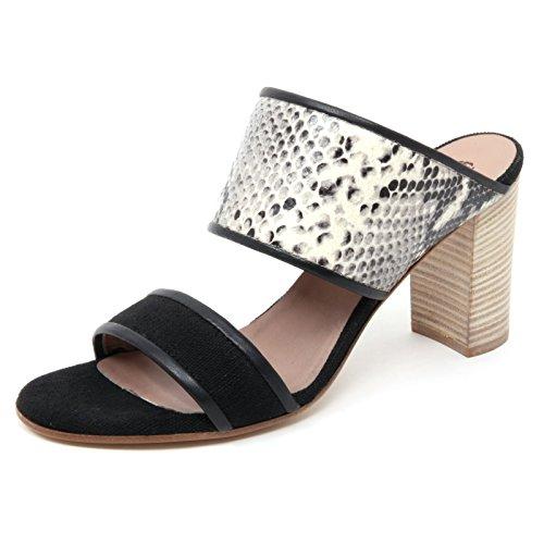 Maliparmi B4946 Sandalo Donna Sabot Nero Stampa Pitone Sandal Shoe Woman [40]