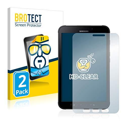 BROTECT Schutzfolie kompatibel mit Samsung Galaxy Tab Active 2 SM-T395 (2 Stück) klare Bildschirmschutz-Folie