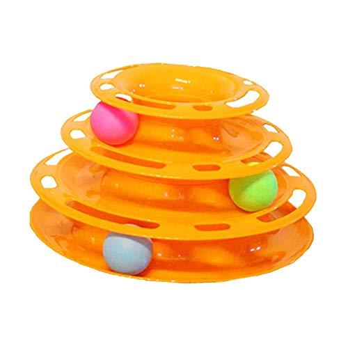 猫 おもちゃ キャットボールタワー ボール 遊び 一人遊び ペット用品 猫用品 ペット ストレス発散 ネコ 運動 玩具