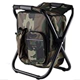 Mounchain Folding Camping Chair Stool Backpack Picnic Bag, Hiking Seat Table Bag Camping Gear for...