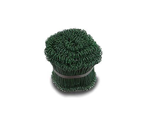 Drahtverschluss grün Verschlussdraht Drillbinder Beutelverschluss Draht, Wunsch:1Bund(1000St.)