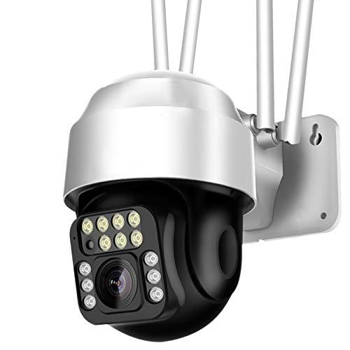 TOOGOO CáMara PTZ 1080P HD Seguimiento de Movimiento CáMara de Seguridad de Vigilancia IP al Aire Libre Impermeable CáMara InaláMbrica Wifi-Enchufe de la UE