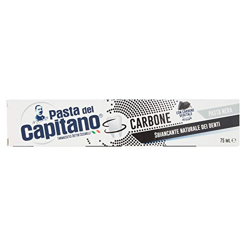 Pasta del Capitano Dentifricio al Carbone Vegetale Attivo, 75 ml