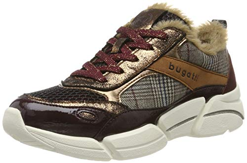 bugatti Damen 431668035769 Sneaker, Rot (Bordo/Multicolour 3581), 38 EU