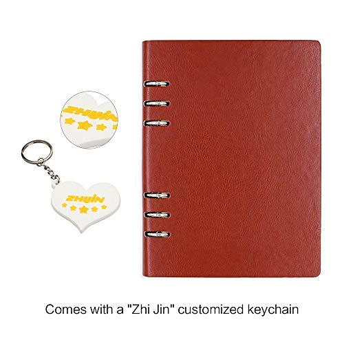 Zhi jin A5Loose Pocket cover rigida in pelle ricaricabili anelli notebook Gazzetta diario Bussiness Brown