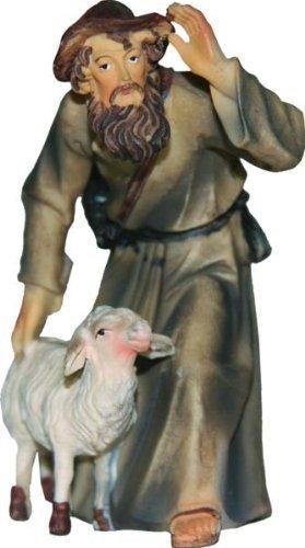 Schäfer mit Schaf, geeignet für 15cm Figuren