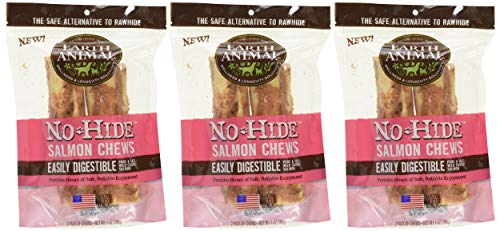 6-Count Earth Animal No-Hide Salmon Chews 7' (3 Packages with 2 Chews Each)