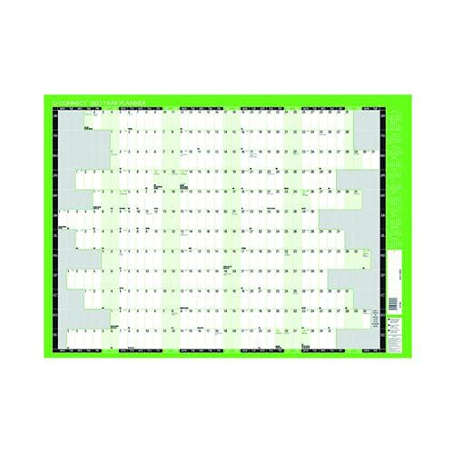 Q-Connect Year Planner Mounted 2022 KFYPM22 (PACK OF 5) +FREE FINCHLEY REFILL PEN