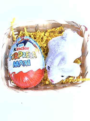 Uovo di Pasqua Kinder - Uovo Kinder Sorpresa Maxi Gr 100 + Peluche Coniglietto Bianco (Captain Marvel)