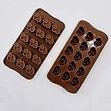 ZARRS Molde para Bombones,2 Pack Silicona Moldes de Chocolate Antiadherentes Mini Corazoncitos Molde para Niños Navidad San Valentín