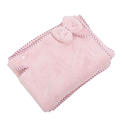 80 x 140 cm Toallas de baño Albornoz Mujer Tubo Superior Coral Fleece Toalla de baño Absorbente Lindo de Secado rápido para SPA Salón de Belleza en el hogar(Rosa Claro)