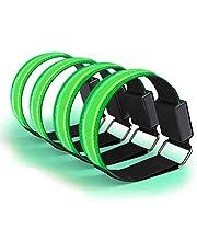 Led-armband oplaadbaar, 4 stuks reflecterende led-lichtbanden voor kinderen, nachts, veiligheidslicht voor hardlopen, joggen, fietsen, wandelen, hardlopen
