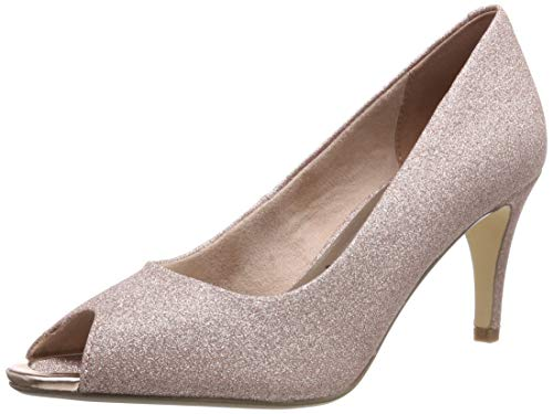 Tamaris Damen 1-1-29302-22 Peeptoe Pumps, Pink (Rose Glam 552), 37 EU