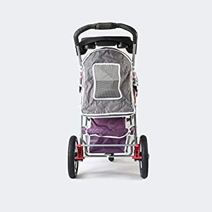 Pet Stroller,IPS-040,Grey/Pink/Lila, dog carrier, trolley, Trailer, Innopet, Buggy Comfort with Airfilled Tyres. Foldable pet buggy, pushchair, pram for dogs and cats 5