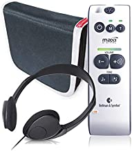 Bellman & Symfon Maxi Personal Sound Amplifier with Headphones for Difficult Hearing Situations - Wireless Sound Amplification Device - Digital Audio, Clarifies Sound - Easy to Use, for Seniors