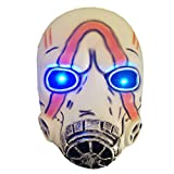 Cafele LED Light Up Game Borderlands 3 Psycho Mask Scary Halloween Cosplay Props - Breathable White Product Name