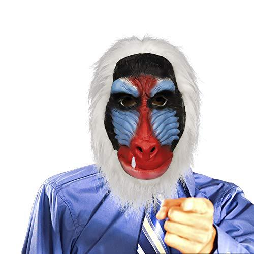 supremask Disfraz de Mono de Traje de Babuino, Disfraz de látex, Disfraz de Goma de Cabeza de Mono de chimpancé de Animales de la Selva