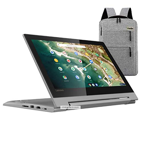 "2021_Lenovo Chromebook Flex 11"" 2-in-1 Convertible Laptop, 11.6-Inch HD Touch Screen, MediaTek MT8173C Quad-Core Processor, 4GB LPDDR3, 32GB eMMC, Webcam, Chrome OS /Legendary Accessories"