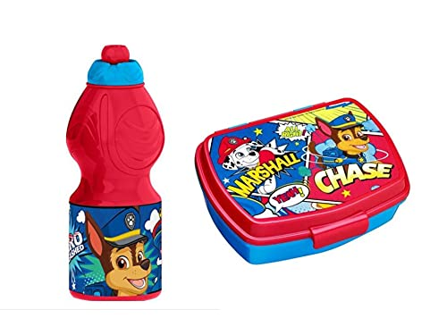 GOLDKIDS Paw Patrol lunchbox voor kinderen, 17 x 14 x 6 cm, broodtrommel voor ontbijt, drinkfles voor school, vrije tijd…