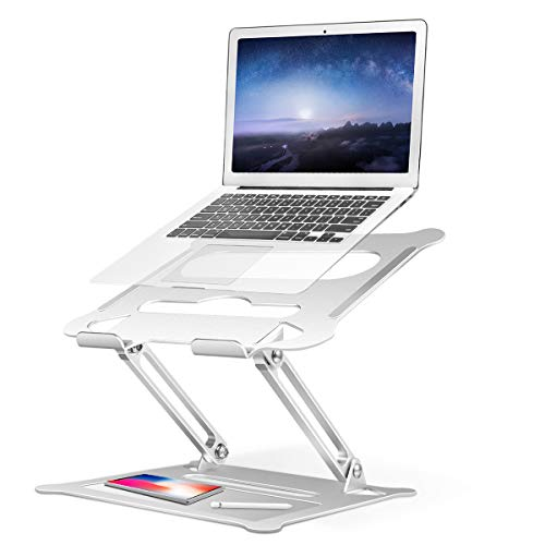 Adjustable Laptop Stand, 2020 New Ergonomic Notebook Holder, Multi-Angle Stand with Heat-Vent, Aluminum Notebook Stand Compatible for MacBook Pro/Air, Dell XPS, HP, Lenovo More 10-17