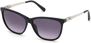 SWAROVSKI Women's Sunglasses Shiny Black Frames with Gradient Smoke Lens