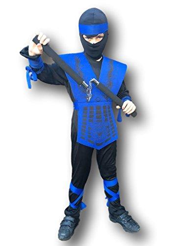 Disfraz de Johnnies de goma, color azul nen, japons, GI JOE , nios, disfraz de asesino para nios, Halloween y fiestas de cumpleaos