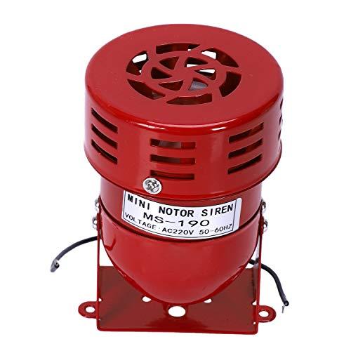 SODIAL(R) Allarme del corno della sirena dell'avviamento dell'aria con motore rosso del motore rosso di CA 220V