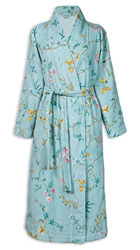 PIP Studio Les Fleurs Bademantel Farbe Blau Größe S Morgenmantel Kimono Damen-Bademantel