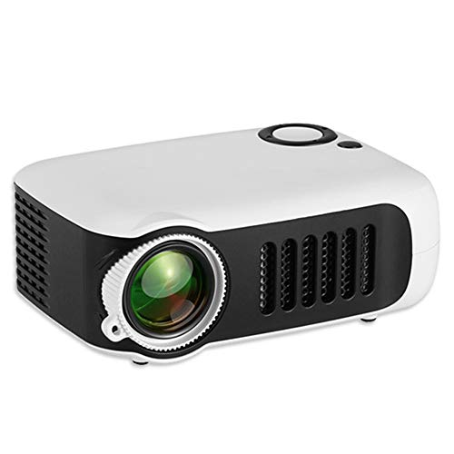 MERLINAE Kids Projector,Mini Pocket Projector,Portable Video Projector Multimedia Home Theater Movie Projector Compatible with TV Stick,Surport 1080P HDMI,USB,AV,Laptop for Children Gift White