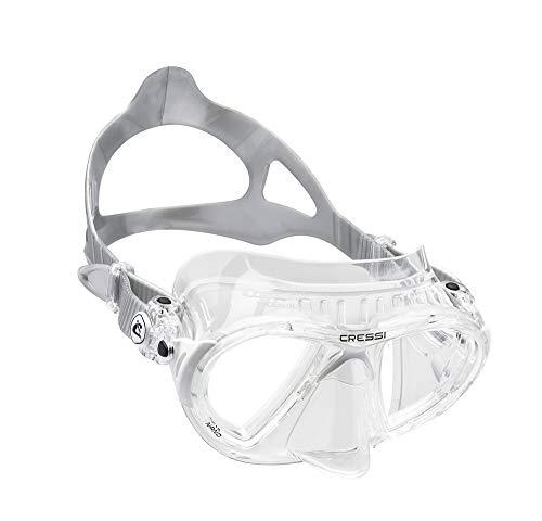 Cressi Nano Crystal Máscara de Buceo, Unisex, Transparente/Blanco