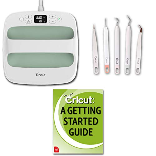 "Cricut Easy Press 2 Bundle – Heat Press Machine and Mat for HTV Projects, Weeder Kit, Mint, 9"" x 9"""