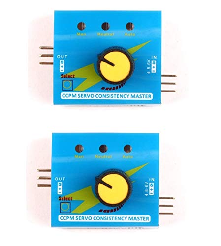 DollaTek RC Servo Tester Multi 3CH ECS Konsistenz Geschwindigkeit Controler Power Kanäle CCPM Meter mit Reverse - 2ST