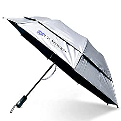 04a20100 An umbrella, sun shade and wind break all rolled into one, this great  umbrella blocks 99.98% of UV rays making it a great addition to any trip if  you are ...
