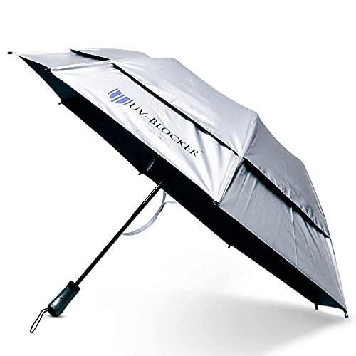 UV-Blocking Sun Protection UV Umbrella - Handheld Portable Beach Umbrellas Provide UPF 55+ Protection & Effectively Block 99% of UVA UVB Light - Windproof Sun Blocking Umbrella - Travel