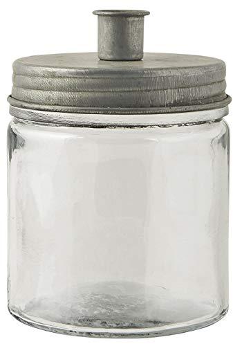 IB Laursen - Kerzenhalter für Stabkerze Metalldeckel niedrig - Höhe 15 cm x Durchmesser 11 cm