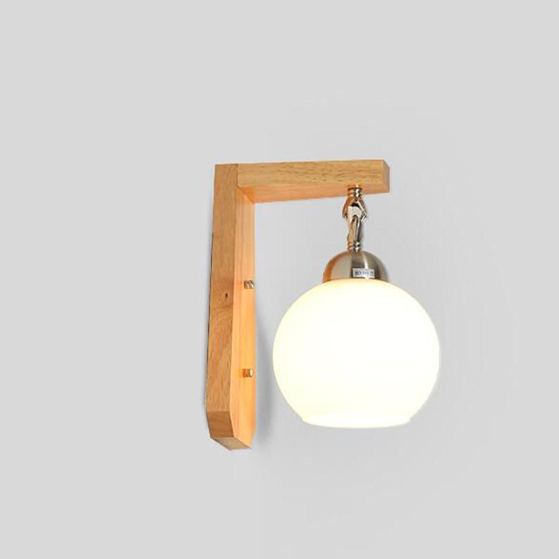 Energiesparende verstellbare Wandleuchte - Holz Minimalist moderne kreative Wandleuchte Nacht Wohnzimmer Schlafzimmer Balkon Aisle Wandleuchte (Nicht die Lichtquelle einschlieen)
